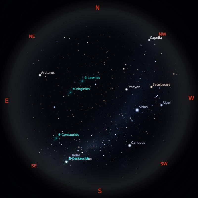 Peta Bintang 15 Februari 2021 pukul 23:59 WIB. Kredit: Stellarium