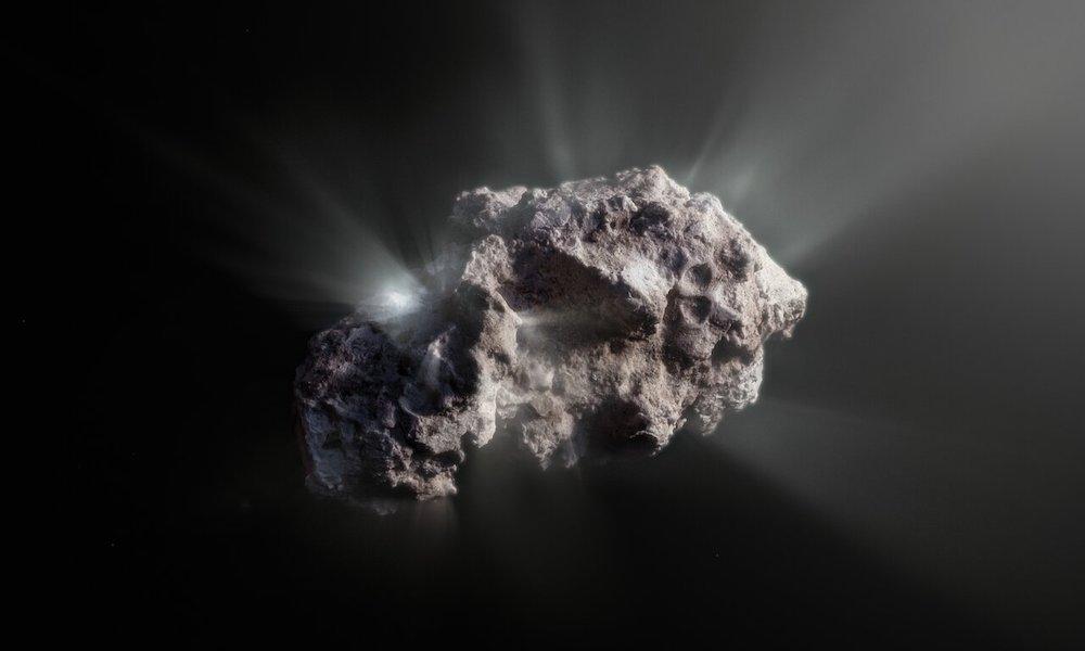 Ilustrasi permukaan komet 2I/Borisov. Kredit: ESO/M. Kormesser