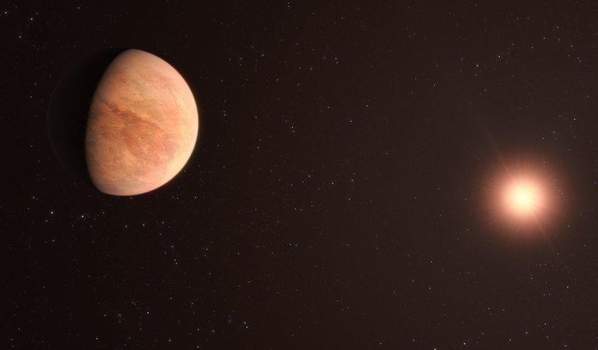 Ilustrasi exoplanet L 98-59b dan bintang induknya. Kredit: ESO/M. Kornmesser