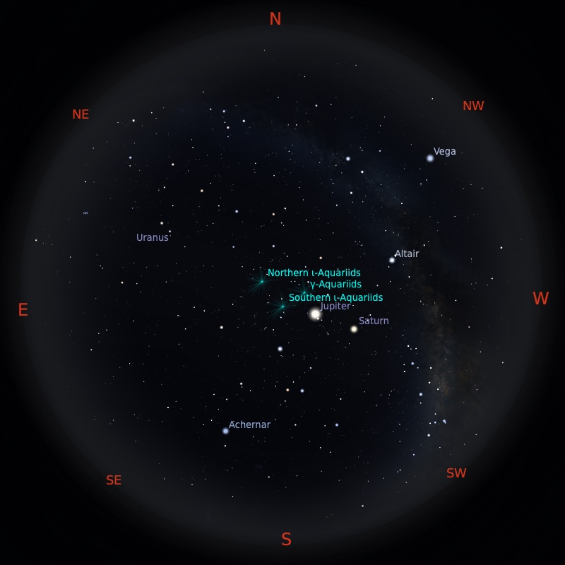 Peta Bintang 1 September 2021 pukul 23:59 WIB. Kredit: Stellarium