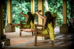 "Nor Hidayah [left] and Siti Noorliyanti in ""She Simply Disappears"", Dancing in Place 2015, Rimbun Dahan, Kuang, 31 January, 2015. Photo © Marvin M Kho"