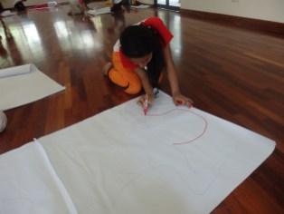 An exercise to learn about the human body, Pusat Kreatif Kanak-Kanak Tuanku Bainun, Kuala Lumpur, 2 March 2015. © Athiqah Fadzil