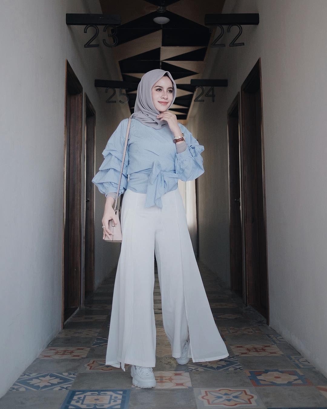 baju setelan celana hijab ala aghnia punjabi