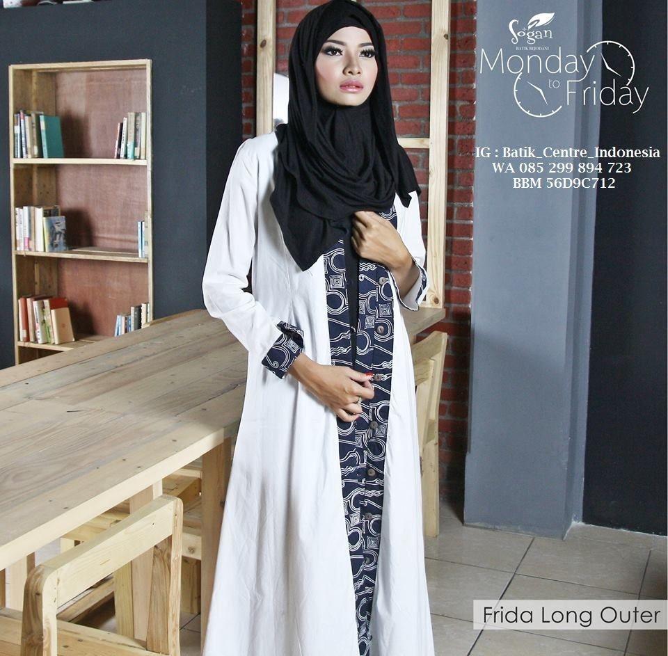 Batik Model cardi putih