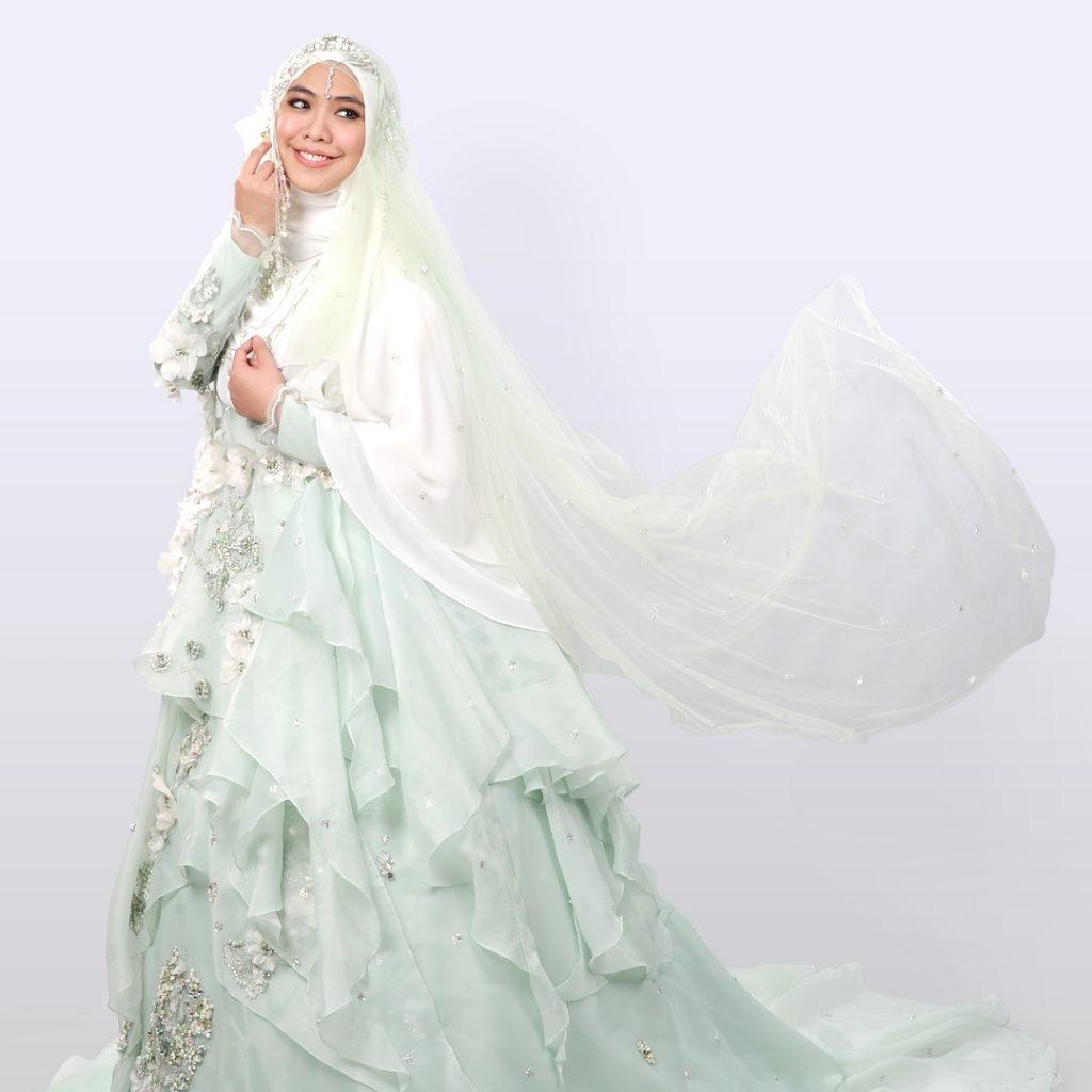 Gaun hijau mint