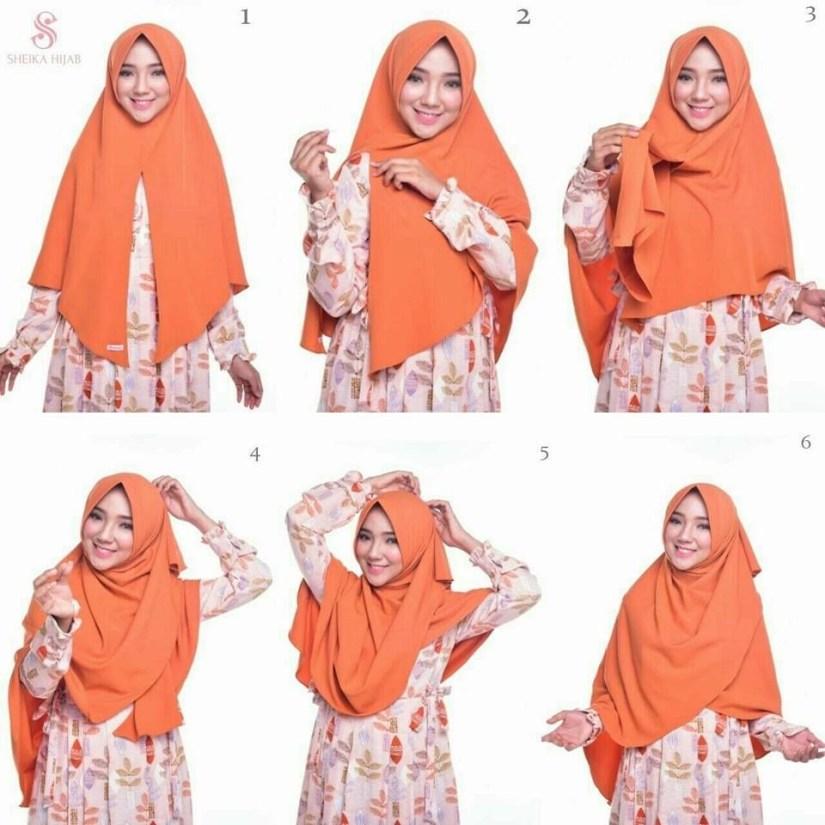 Hijab syar'i tutorial dengan hijab instan