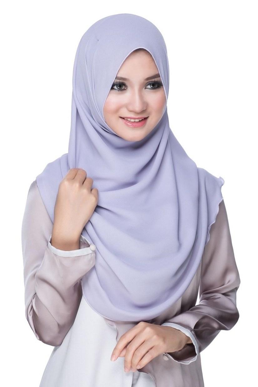 Hijab syar'i tutorial dengan pashmina kreasi