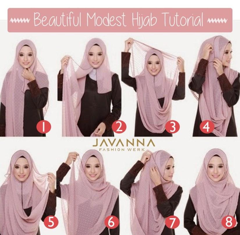 Hijab syar'i tutorial dengan pashmina lagi