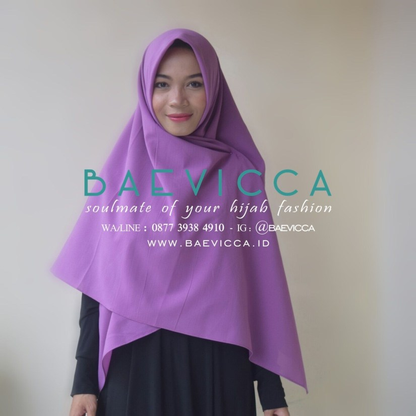 Hijab syar'i tutorial dengan segi empat