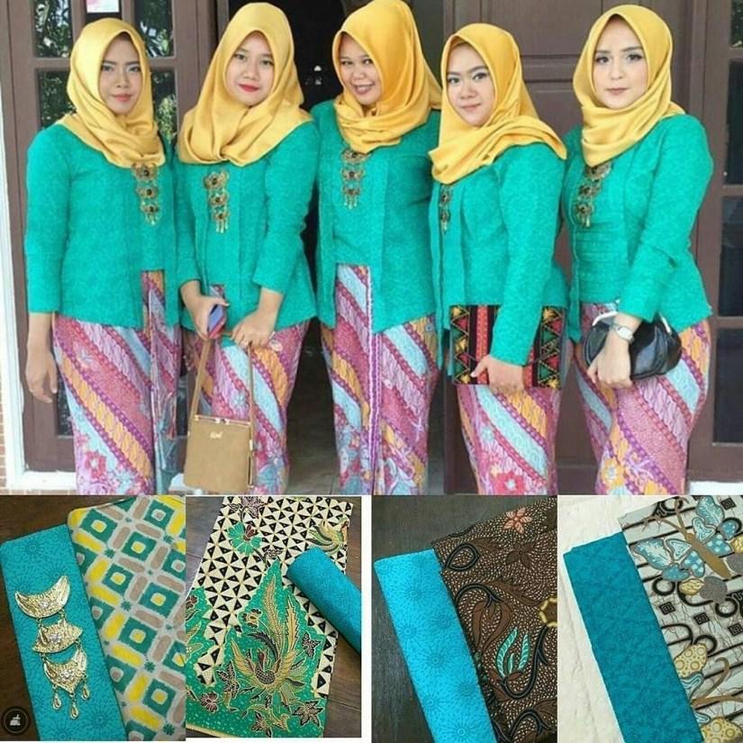 Kebaya kutu baru hijab dengan warna cerah