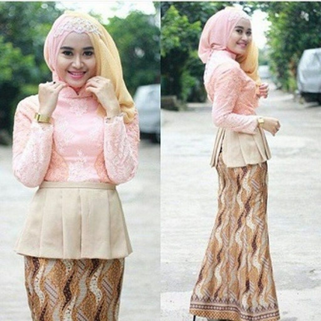 kebaya wisuda modern hijab dengan warna soft