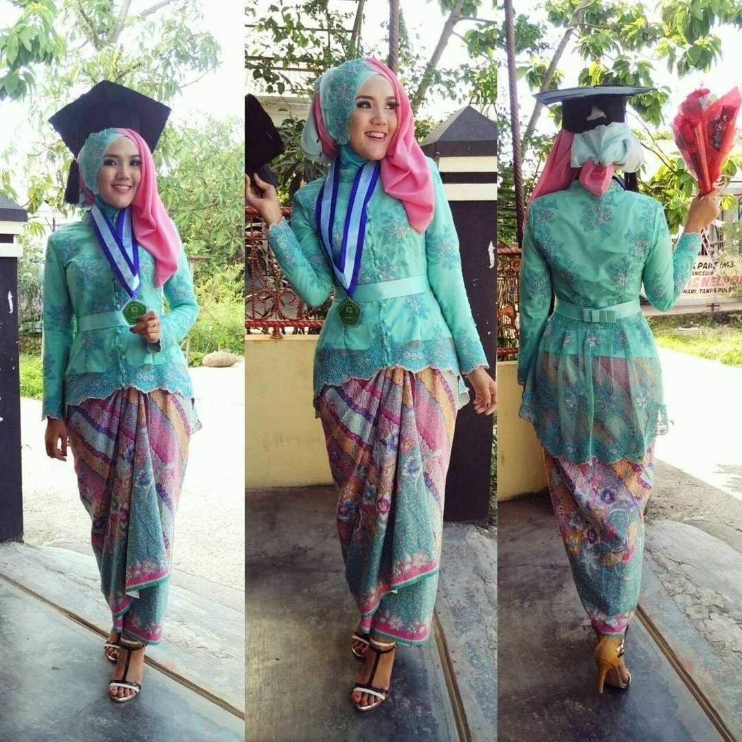 kebaya wisuda modern hijab yang full colour