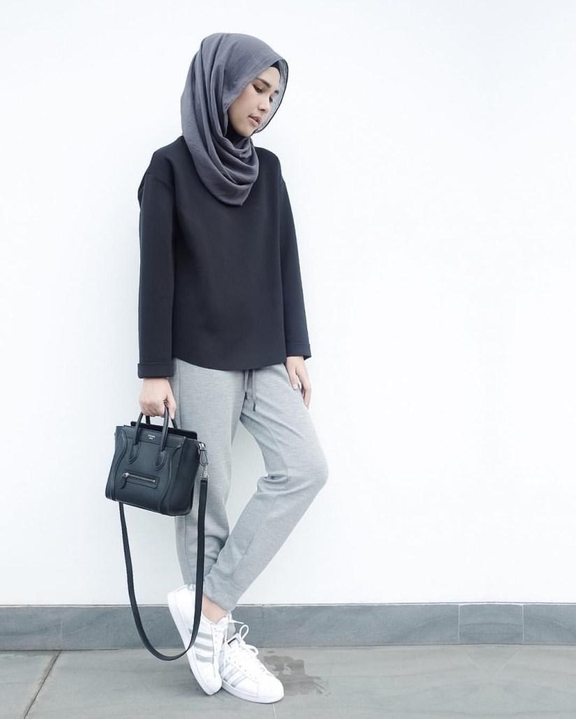 Style baju hijab simple untuk sehari hari