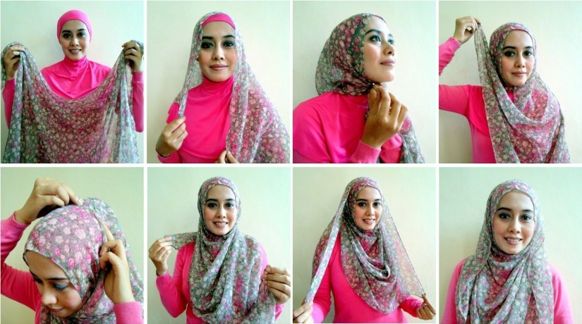 Tutorial hijab pashmina simple dengan ciput ninja
