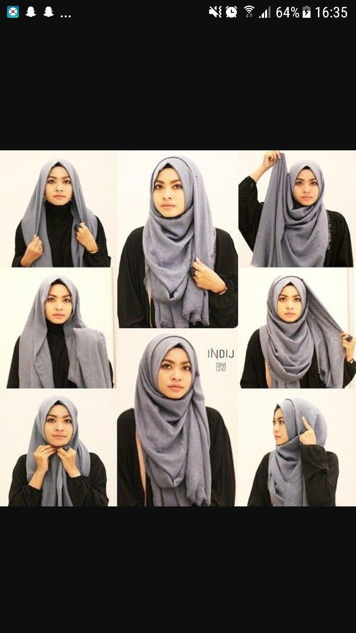 Tutorial hijab pashmina simple dengan lilit