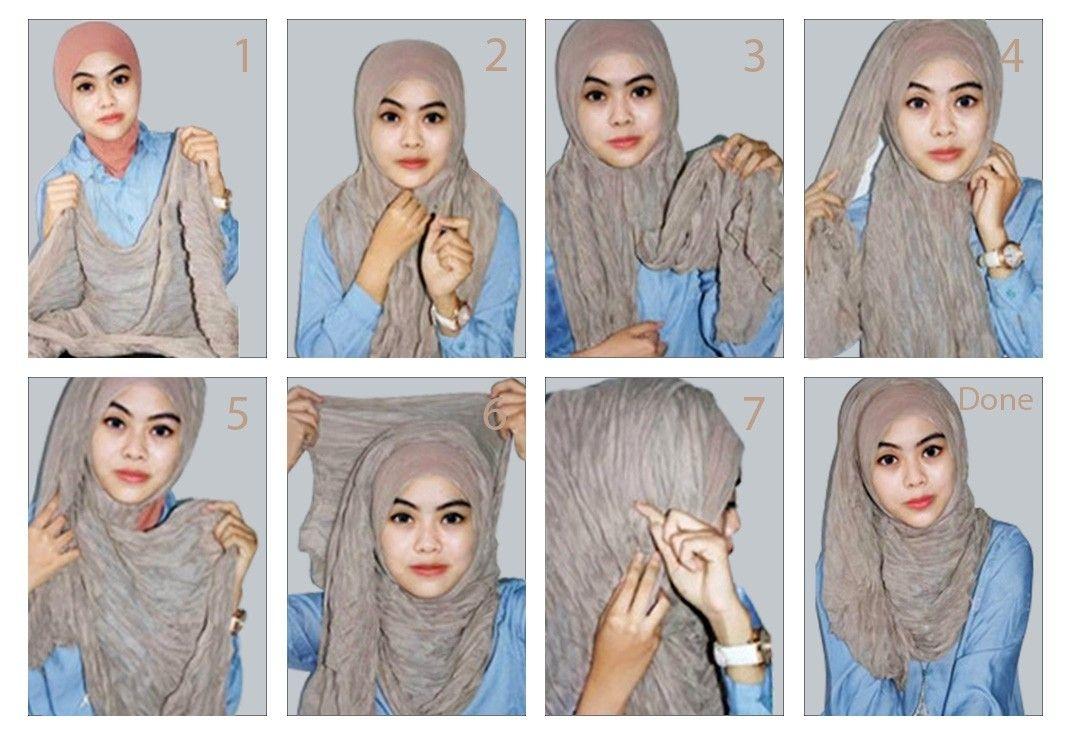 Tutorial hijab pashmina simple untuk acara santai
