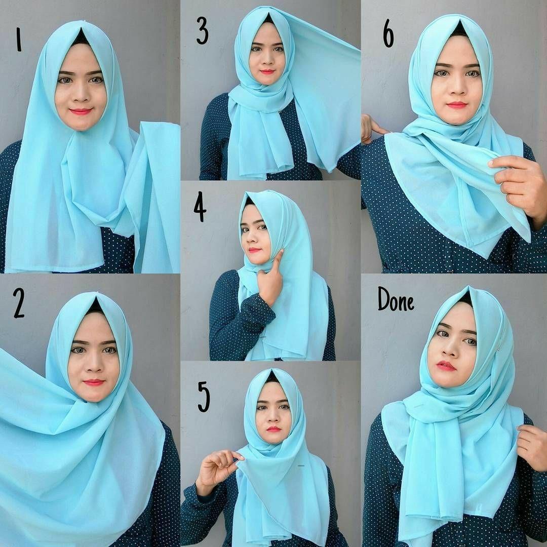 Tutorial hijab pashmina simple yang mudah