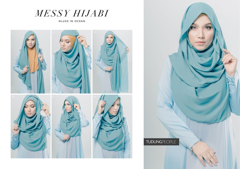 Tutorial hijab pashmina simple yang syar'i