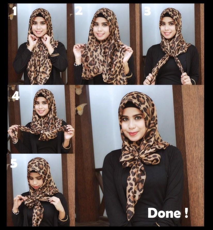tutorial hijab segi empat untuk ke kantor