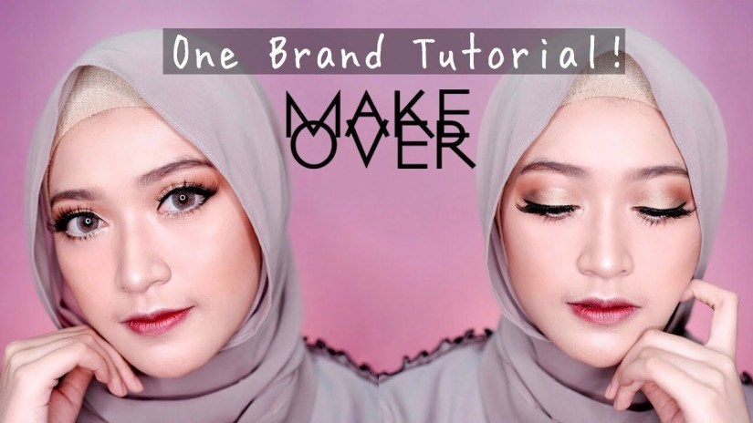 Tutorial make up natural hijab yang glam