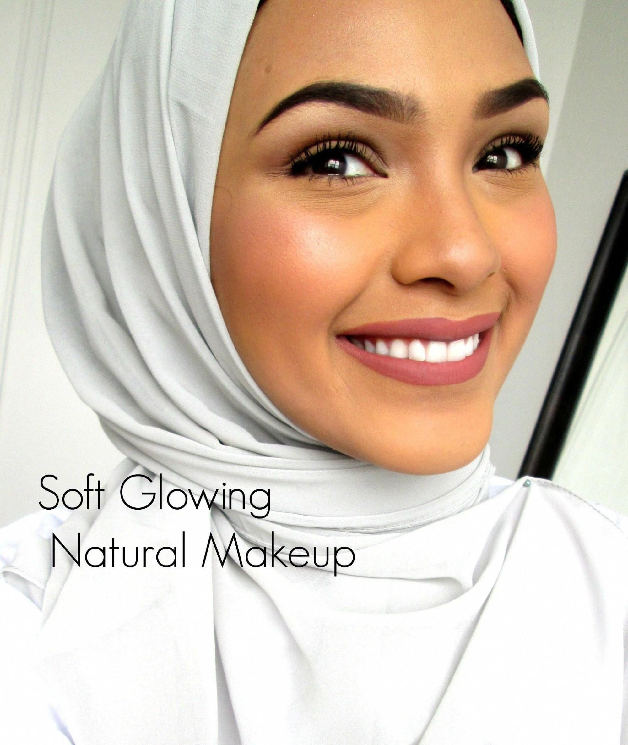 Tutorial make up natural hijab yang glowing
