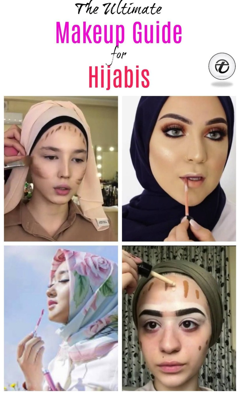 Tutorial make up natural hijab yang tebal