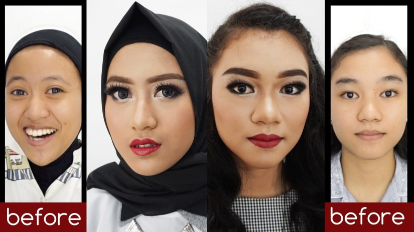 tutorial makeup natural hijab untuk pesta