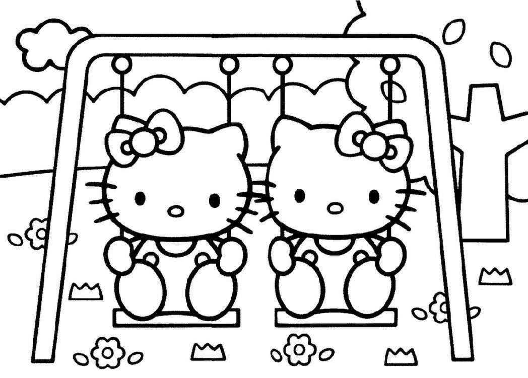 elegant picture of hello kitty color pages davemelillo