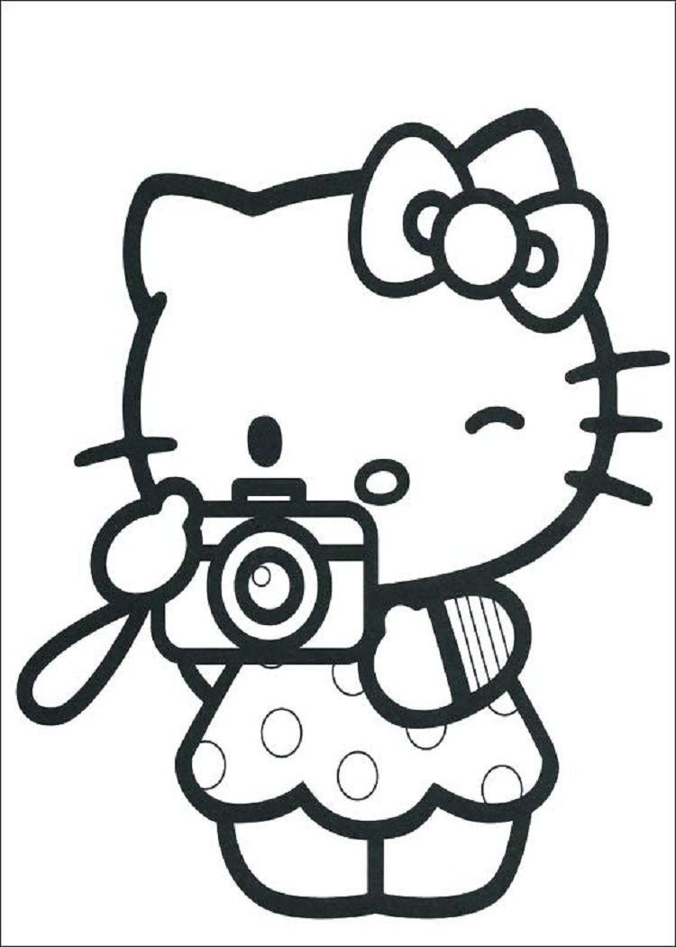 full size coloring pages hello kitty coloring pages full