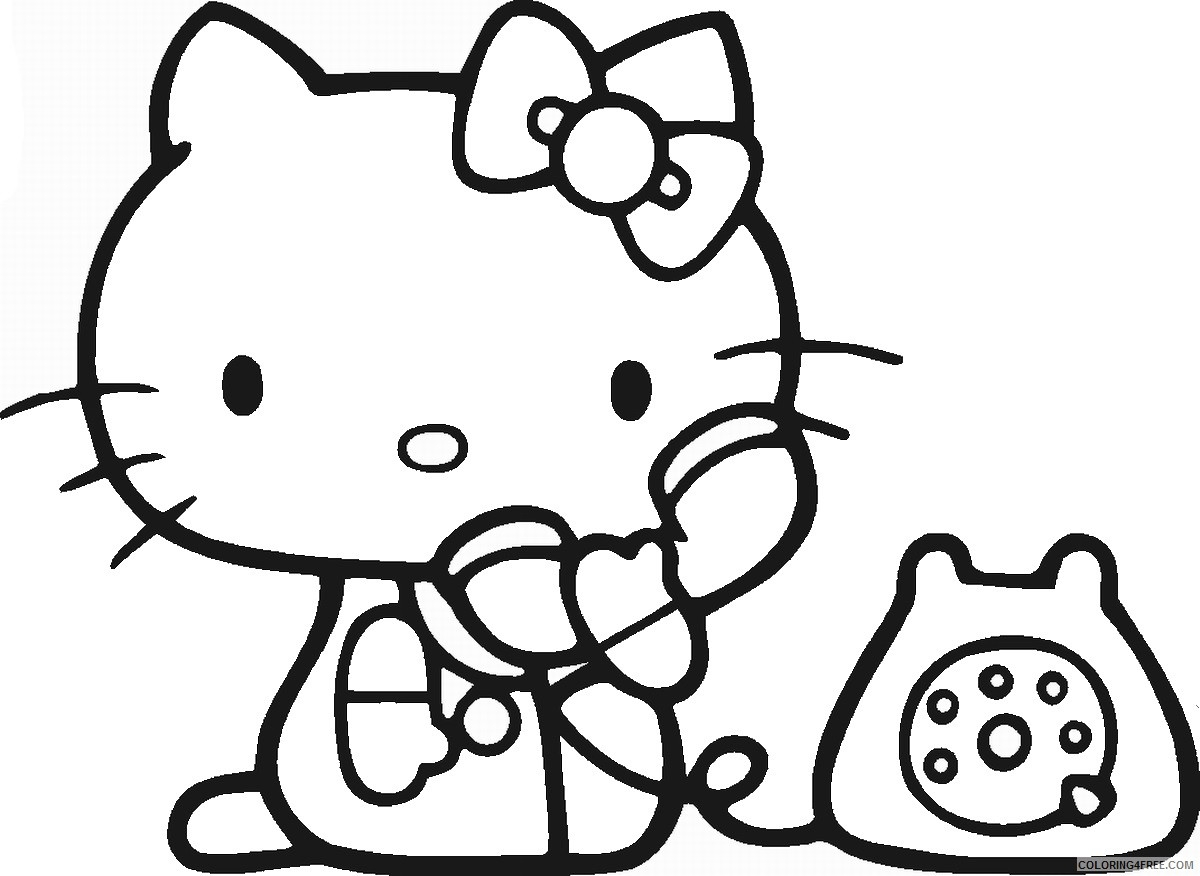 hello kitty coloring pages cartoons hellokittycl39