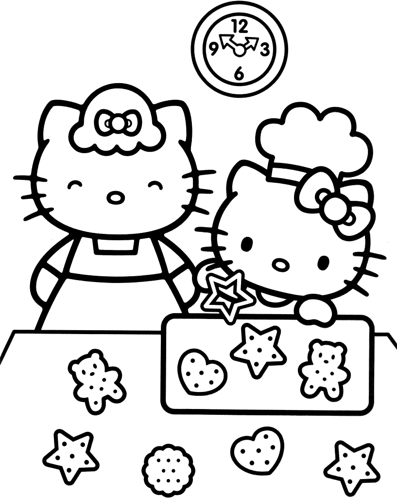 smart hello kitty coloring pages