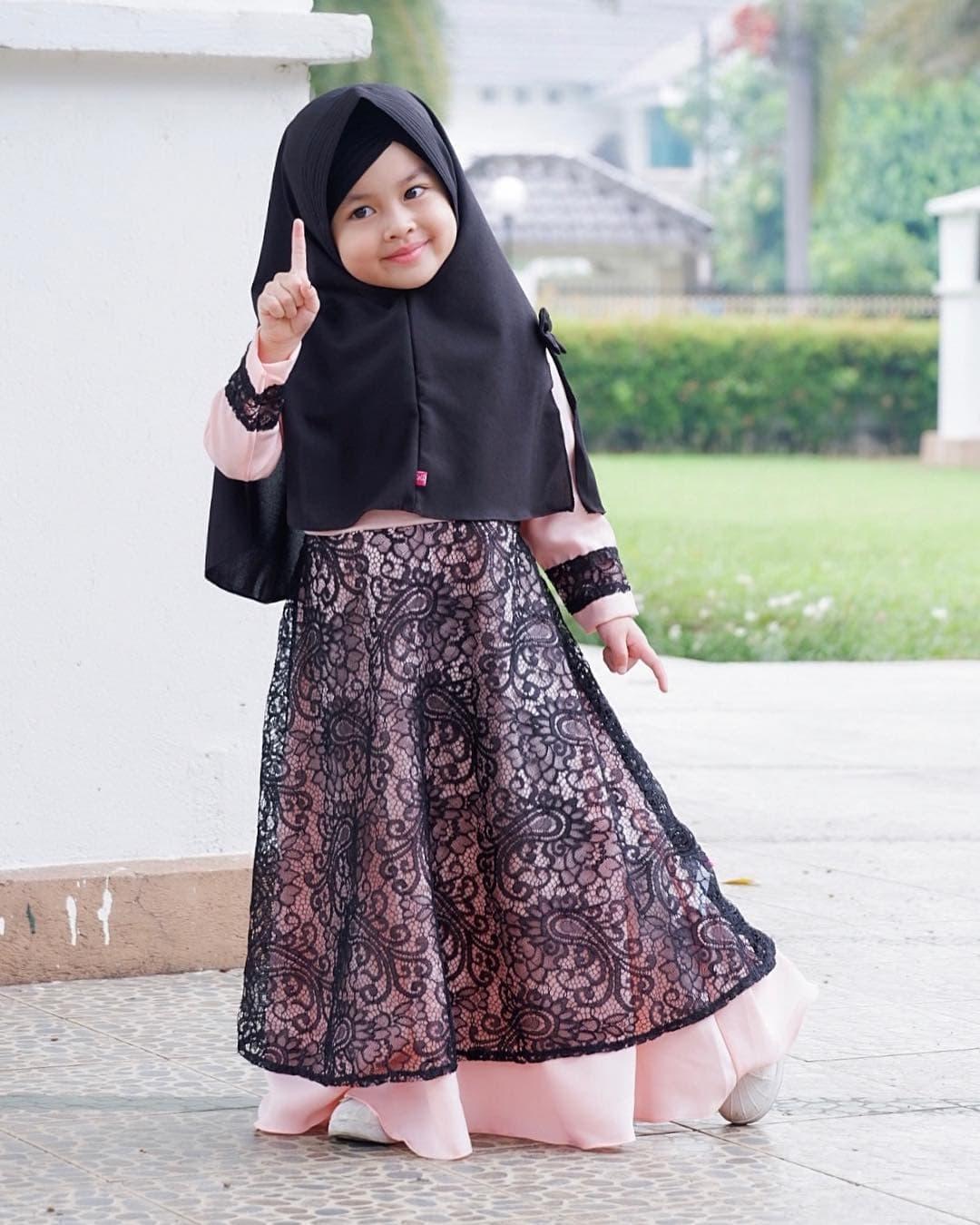 model gamis batik anak kombinasi ananta batik