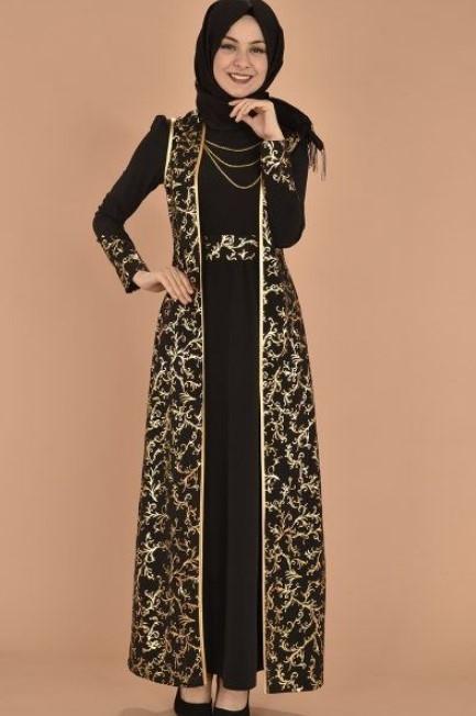 49 info terkini gamis modern batik kombinasi polos