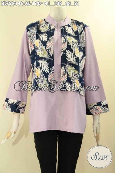 blouse batik solo untuk wanita terbaru atasan batik