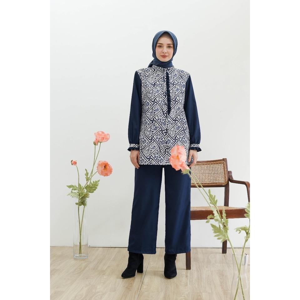 blus lyla batik benji butiknayyaraid