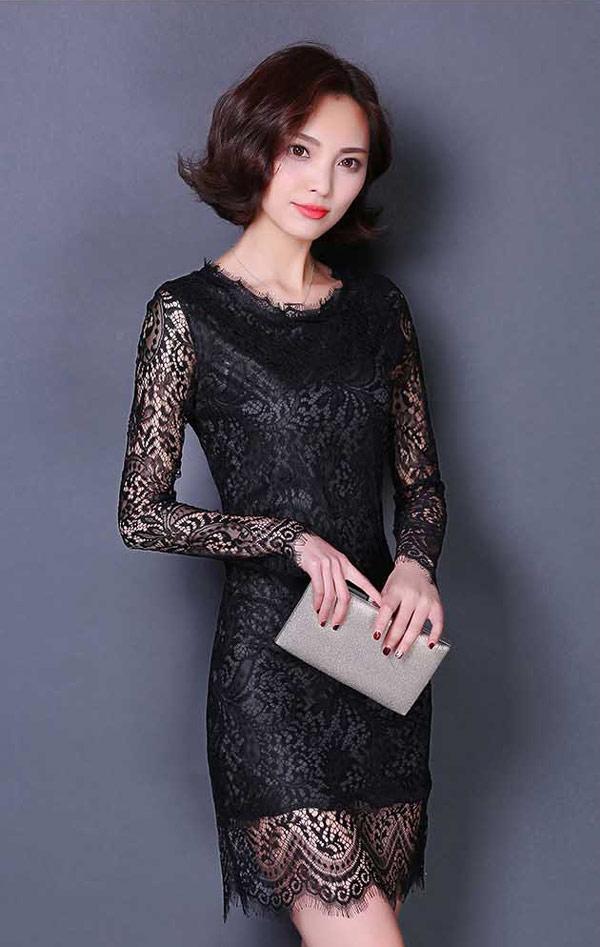 dress brokat pendek modern cantik untuk pesta a2883