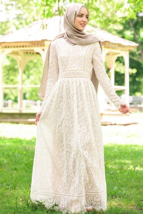 dress hijab brokat modern jilbab voal 1