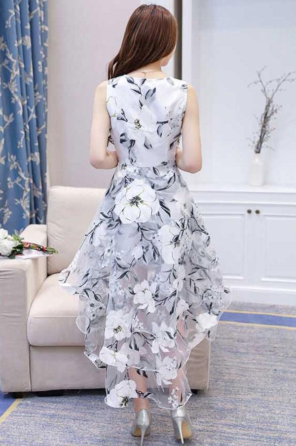 dress model depan pendek belakang panjang cantik korea ea087