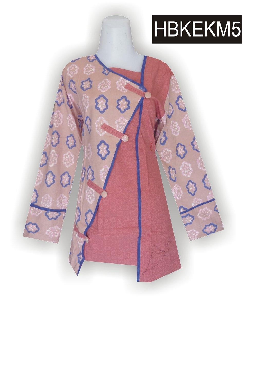 gambar design baju blouse batik kerabatdesain