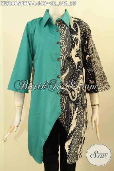 koleksi busana batik wanita tren masa kini blouse
