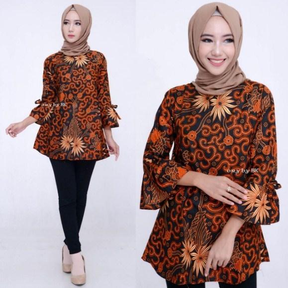 model baju batik atasan untuk wanita terbaru ifabrix 1