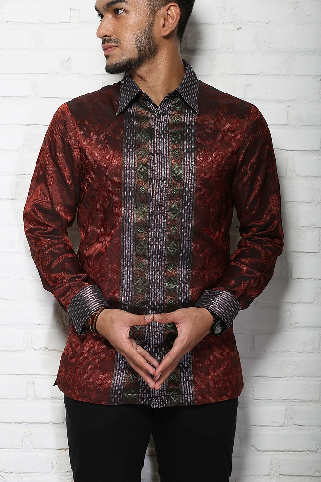 model baju batik terbaru laki laki kemeja batik pria