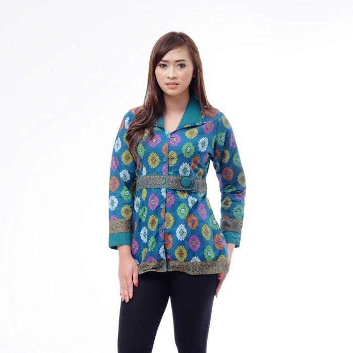 model baju batik wanita lengan panjang untuk kerja batik