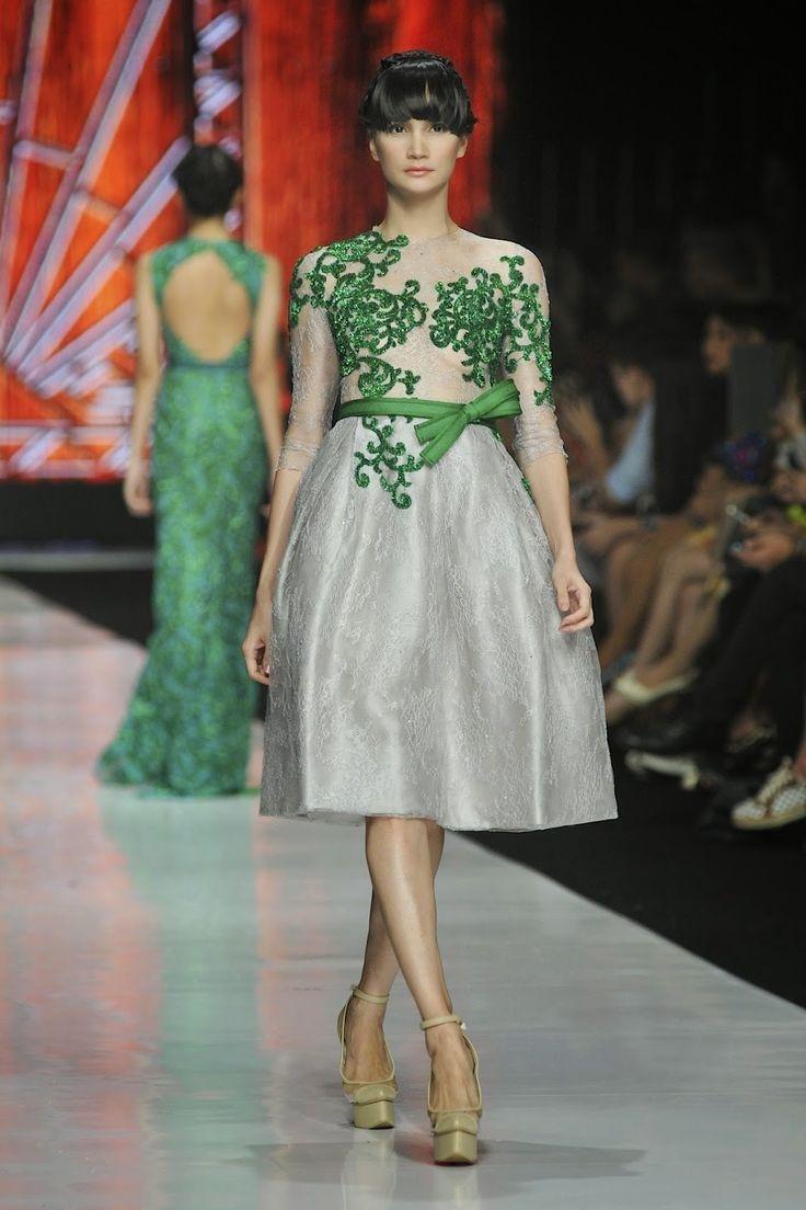 model kebaya dress panjang paling populer kumpulan model