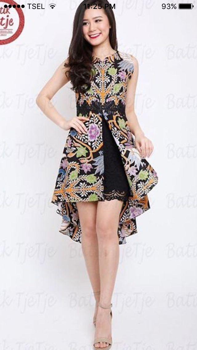 model pakaian oleh paula prasetya di i batik pakaian