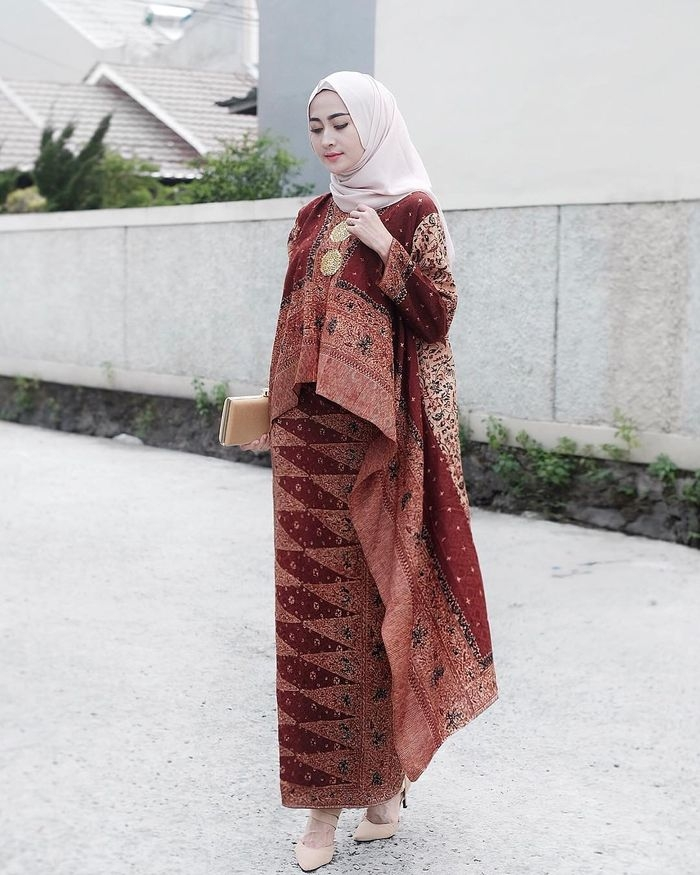 paling keren ootd kondangan hijab batik for sprint