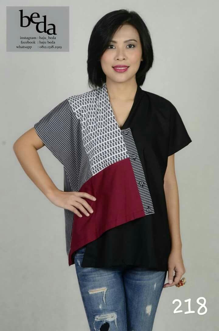 pin oleh linda mings di batik ideas desain blus kasual