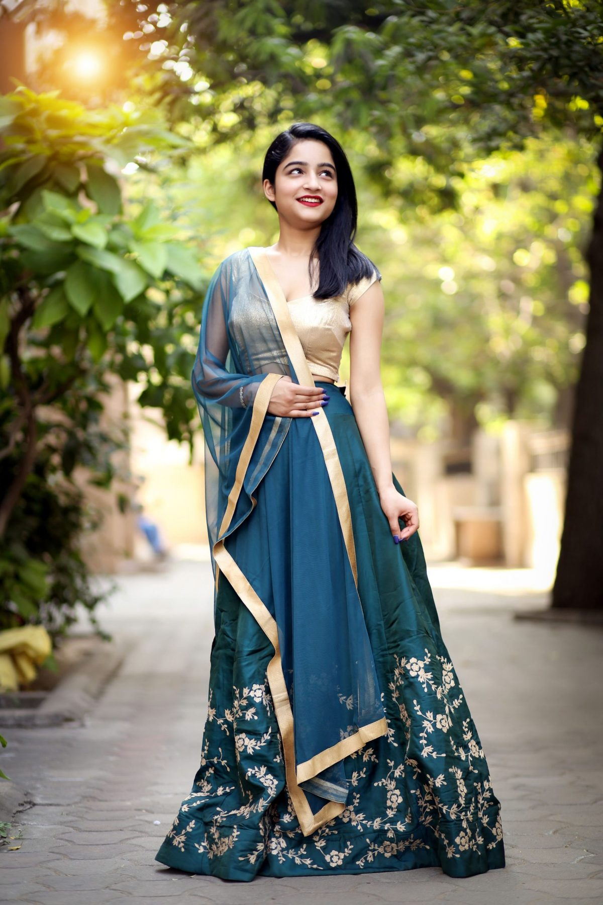 simple and stylish lehenga dm for ordering photography