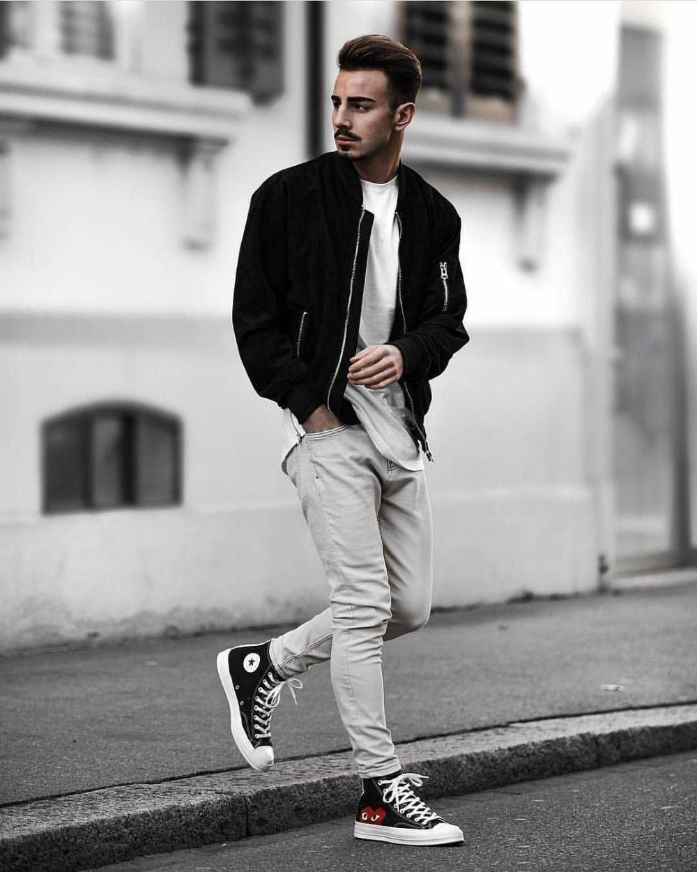style sepatu converse high pria converse x play cdg