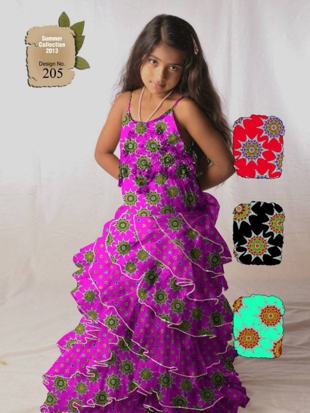 ajwa kids child summer lawn dress collection 2013 al